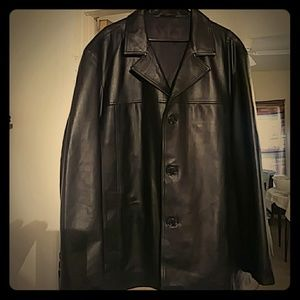 Luciano Natazze Mens Lambskin Leather Top coat